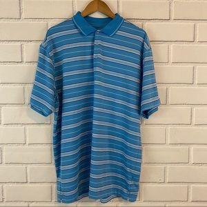 Nike Golf Fit Dry Blue Striped Polo Shirt